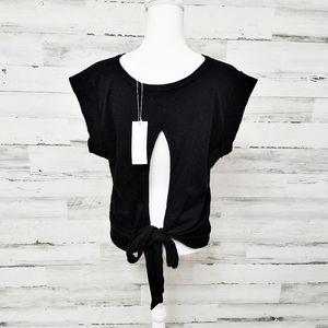 🆕Vince Black Open Back Short Sleeve Top